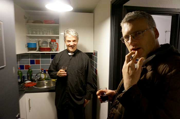 Mulled wine with Fr Tim